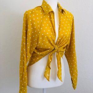 Yellow Polka Dot Crop Top